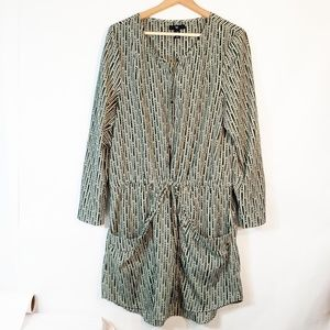 Gap Dress Blue Green Larger Pocket Drawstring LG